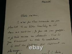 Paul Valery Humoristic Letter Autograph Signee Address A Sa Voisine