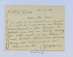 Philippe Pétain Autograph Letter Signed Envelope + 1930 Letter Signed