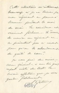 Philippe Pétain. Autograph Letter Signed To General Bonnal