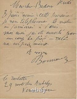 Pierre Bonnard Autograph Letter Signed Painting Nabis