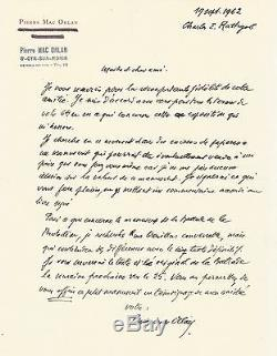 Pierre Mac Orlan / Autograph Letter Signed Charles Rathgeb