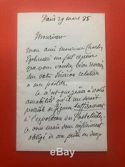 Pierre Puvis Of Chavannes Autograph Letter Signed