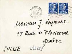 Pierre Soulages Autograph Letter Signed. His Exhibition In New York In 1958