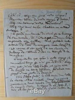 Pierre-joseph Proudhon Autograph Letter Signed Citizens Rolland