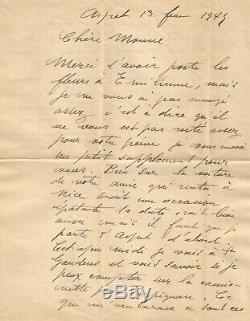 Raoul Dufy Autograph Letter Signed Two Handwritten Pages In 1945