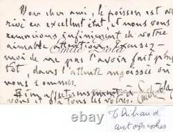 Rare Autograph Letter Business Card Signed Émile Zola Signature Literature