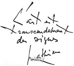 Rare Document Georges Mathieu Thought On Art + Signed Autograph Letter 2 Pp