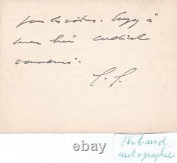 Rare Gift Card Letter Signed General Charles De Gaulle Autograph Dedication