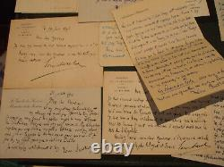Rare Meeting 21 Documents Louis Barthou Including 16 Autograph Letters Signed