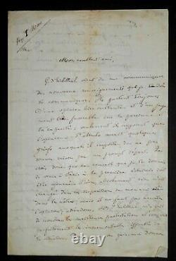 Renan Ernest Letter Autography Signed To François-marie Luzel, Paris