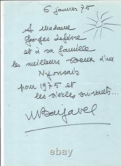 René Barjavel (1911.1985). Signed Autograph Letter. Let's Be