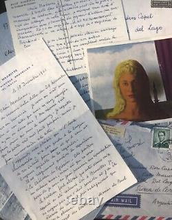 René Magritte / Autograph Correspondence Signed / 3 Letters And 2 Cards