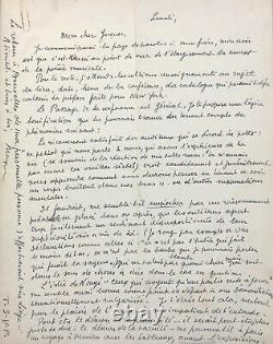 René Magritte Autograph Letter Signed About His Exhibition In Verviers