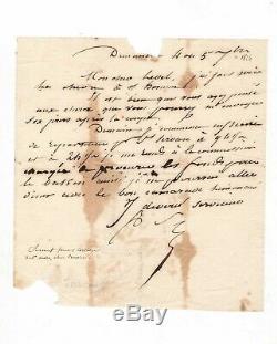 Robert Surcouf / Autograph Letter Signed (1826) / Corsair / Saint-malo