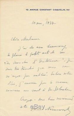 Russia Irene Nemirovsky Autograph Letter Signed Flies Autumn 1937