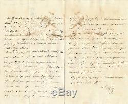 Saint Cyr Military Marechal Pelissier Autograph Letter Signed Student Algiers