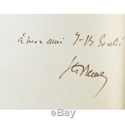 Sainte-beuve Poems Send + 3 Autograph Letters Beautiful Contemporary Binding