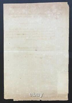 Salvation Committee Public, Saint-just Document / Signed Letter 1793
