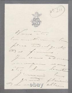 Sarah Bernhardt Signed Autograph Letter