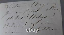 Sarah Bernhardt Victor Hugo Signed Autograph Letter Dated 1880