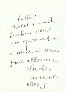 Serge Gainsbourg / Autograph Letter Signed Fulbert / 1988