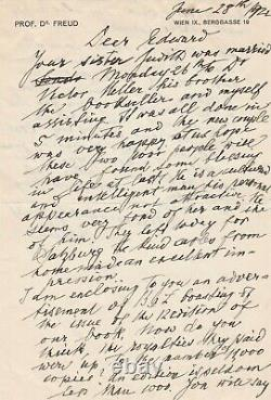 Sigmund Freud Autograph Letter Signed To His Cousin Edward Bernays