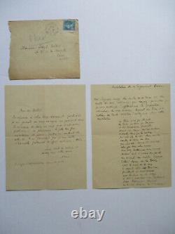 Signed Autograph Letter From Max Jacob To Joseph Delteil + Unpublished Poem 40 Vers