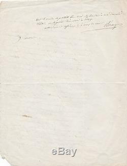 Song Pierre Jean Beranger Autograph Letter Signed 1848 Revolution