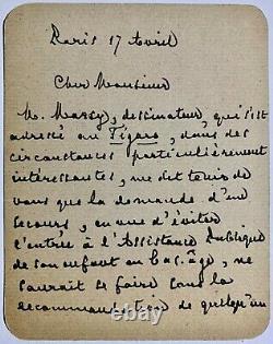 Stephane Mallarmé, Autotographe Handwritten Letter Signed By A Stranger, 2 Pp