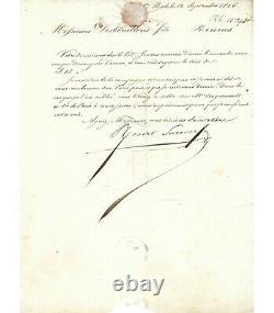 Surcouf Robert, Sailor And Corsair. Signed Letter (g 3837)