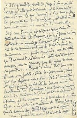 Sylvain Bonmariage Autograph Letter Signed By Mr. Rostand Proust Lover