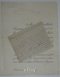 Tailhade Laurent Letter Autography Signed, Prison Of Health, 1902