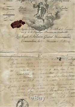 The Blond Of Saint-hilaire Empire Revolution Letter Autograph Signed 1800