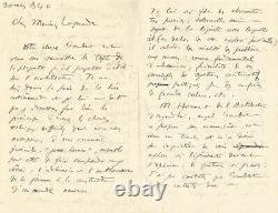 The Corbusier Autograph Letter Signed To Albert Laprade. Architecture In 1940