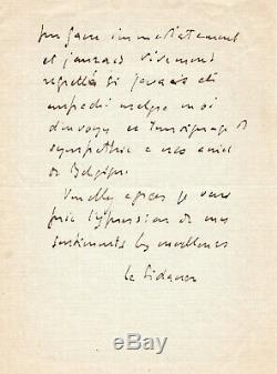 The Sidaner Henri, Painter, Autograph Letter Signed Léonce Bénédite
