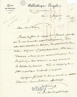 Theophile Marion Dumersan Autograph Letter Signed Nodier Tacone Music Opera