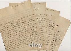 Thomé De Méry Thomé De Ferrieres Correspondence Autograph Letters Signed