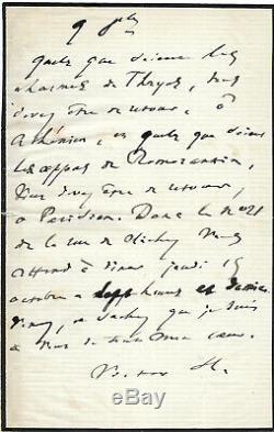 Victor Hugo / Autograph Letter Signed