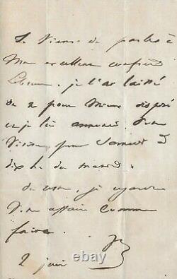 Victor Hugo Autograph Letter Signed
