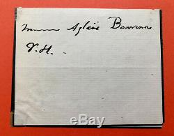 Victor Hugo Autograph Letter Signed In Aglaüs Bouvenne