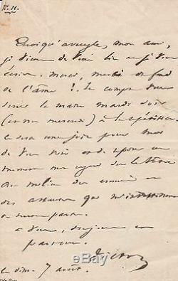 Victor Hugo Autograph Letter Signed On Marion Delorme