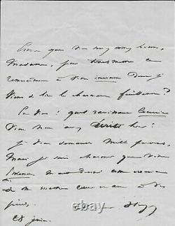 Victor Hugo Signed Autograph Letter
