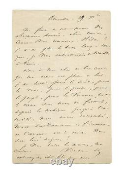 Victor Hugo / Signed Autograph Letter / Exil / Coup D'état 1851 / Napoleon III