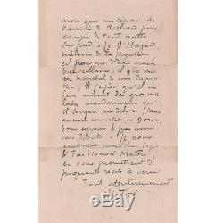Victor Segalen Rare Signed Autograph Letter To His Father-in-law