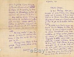 X. Lignac Resistance Barsacq Letter Anouilh Autograph Letter Signed Lassaigne