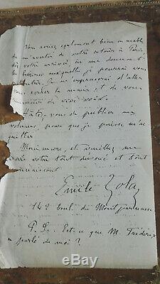 Zola Autograph Letter Signed In 1866 Alexandre De Lavergne Rare