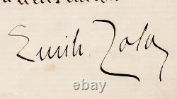 Zola Émile Signed Autograph Letter Addressed To Louis De Robert, 18 June 1896