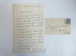 Zola (emile) Autographed Letter Signed By Emile Zola On Au Bonjour Des Dames