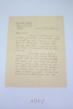 Zweig Letter Bath Pianist Alfred Cortot Manuscrit Autographe 1939
