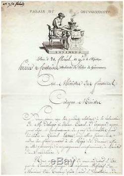 (napoleon) / Chteau Des Tuileries / Charles Percier Letter Signed (1801)